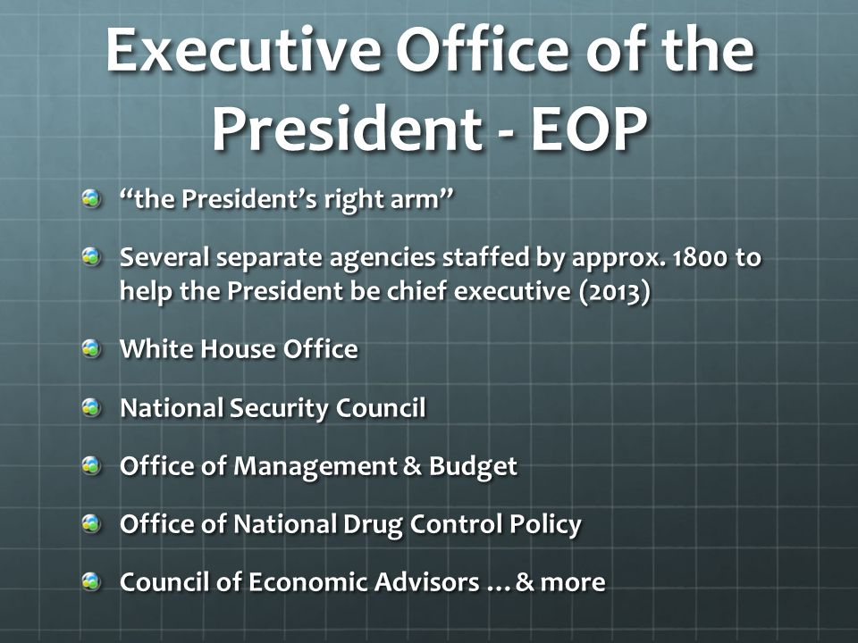 Executive Office of the President - EOP