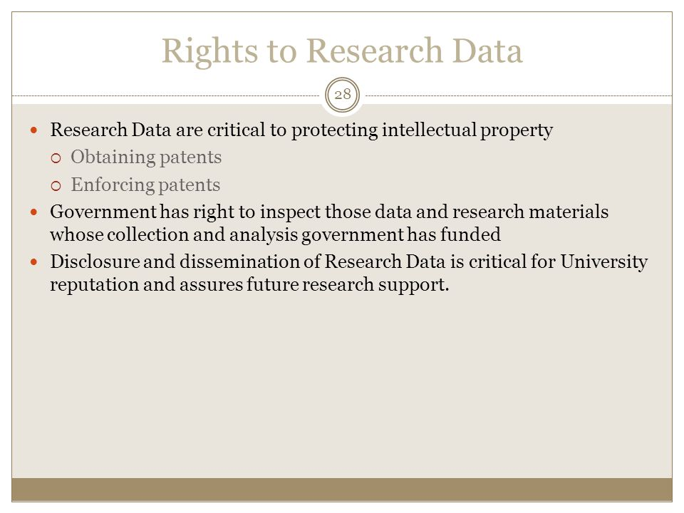 Rights to Research Data