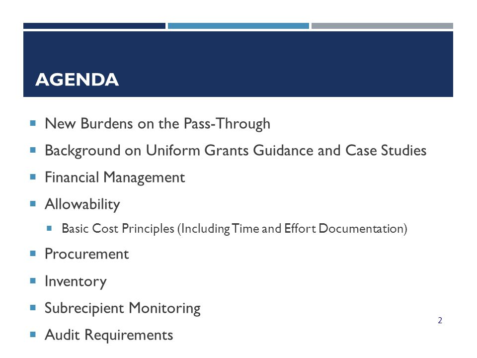 Agenda New Burdens on the Pass-Through
