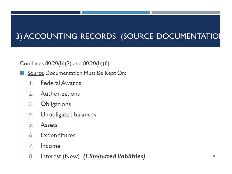 3) Accounting Records (Source Documentation)