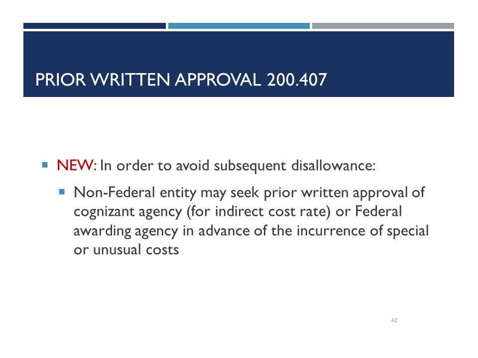 Prior Written Approval 200.407