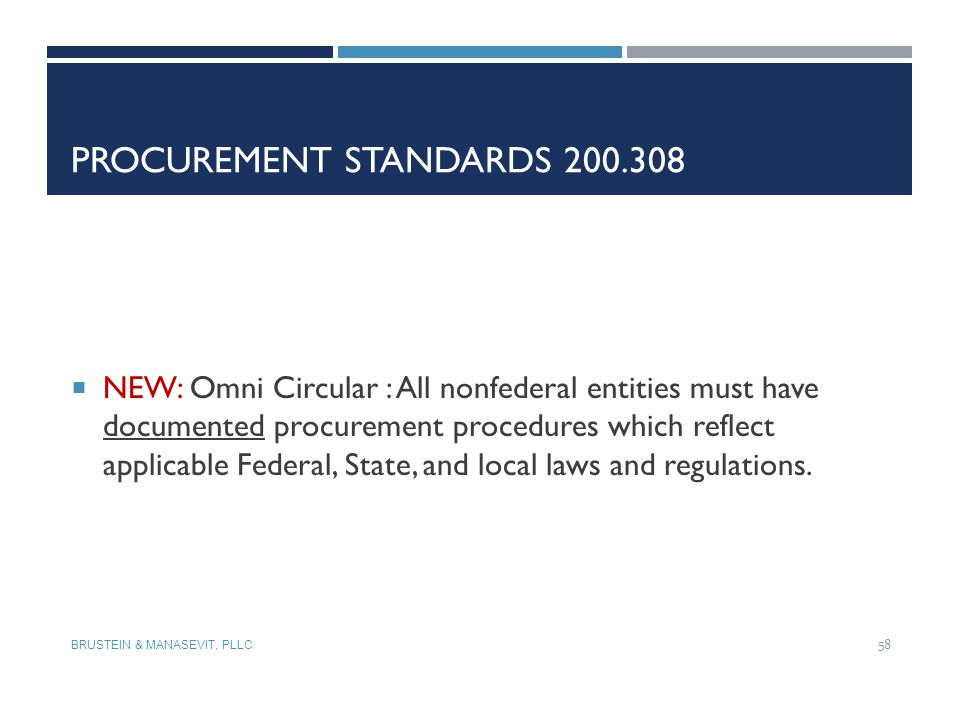 Procurement Standards 200.308
