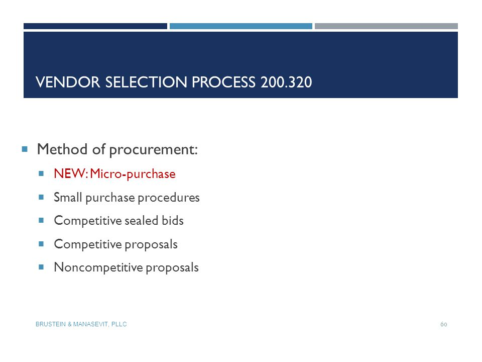 Vendor Selection Process 200.320
