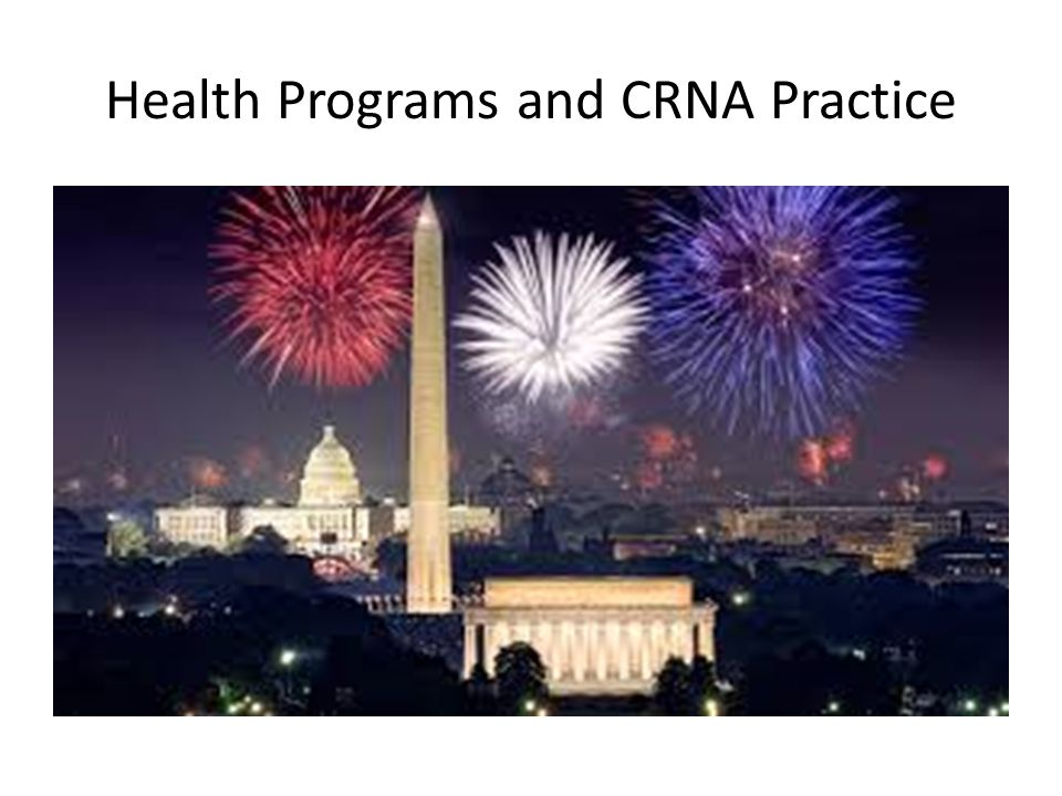 Health Programs and CRNA Practice