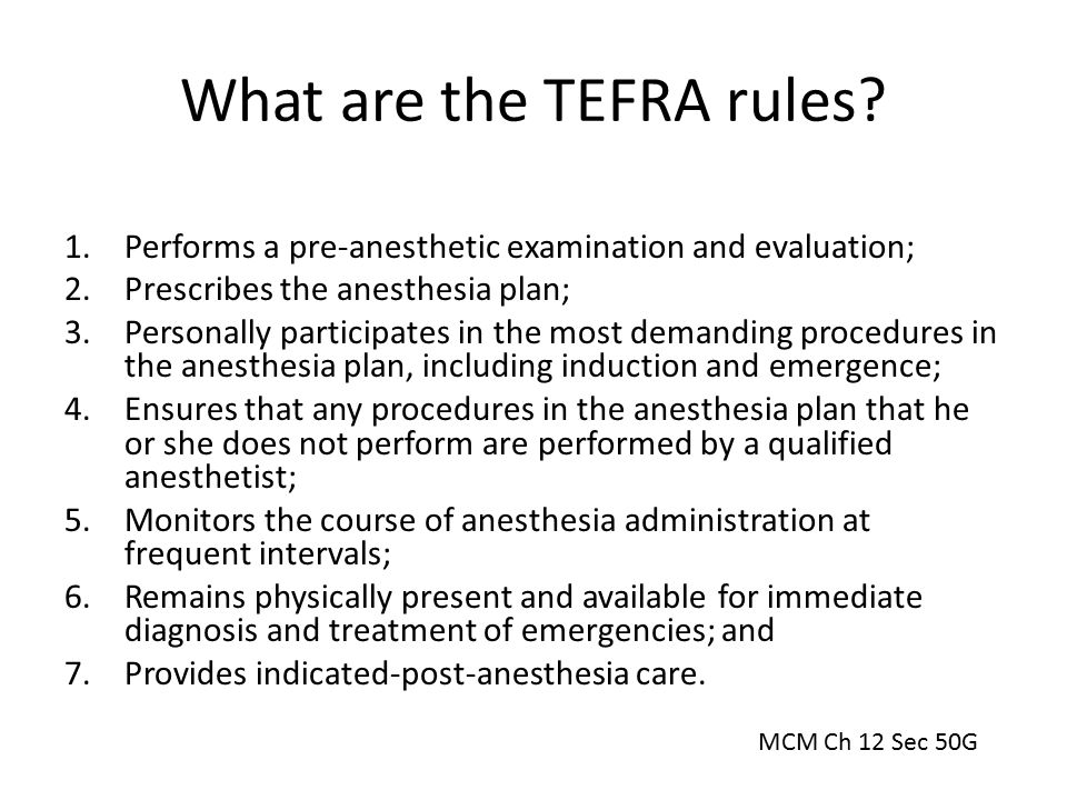 What are the TEFRA rules
