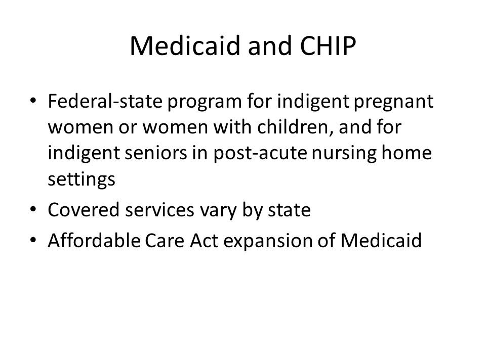 Medicaid and CHIP