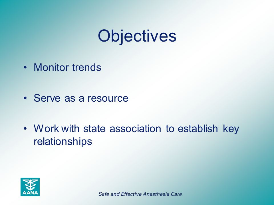 Objectives Monitor trends Serve as a resource
