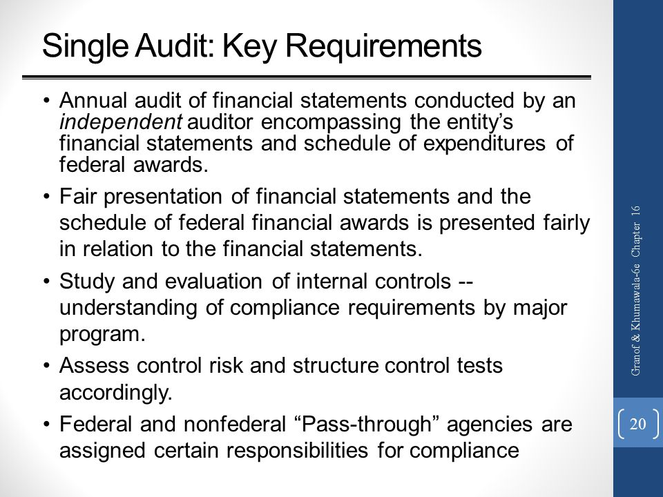 Single Audit: Key Requirements