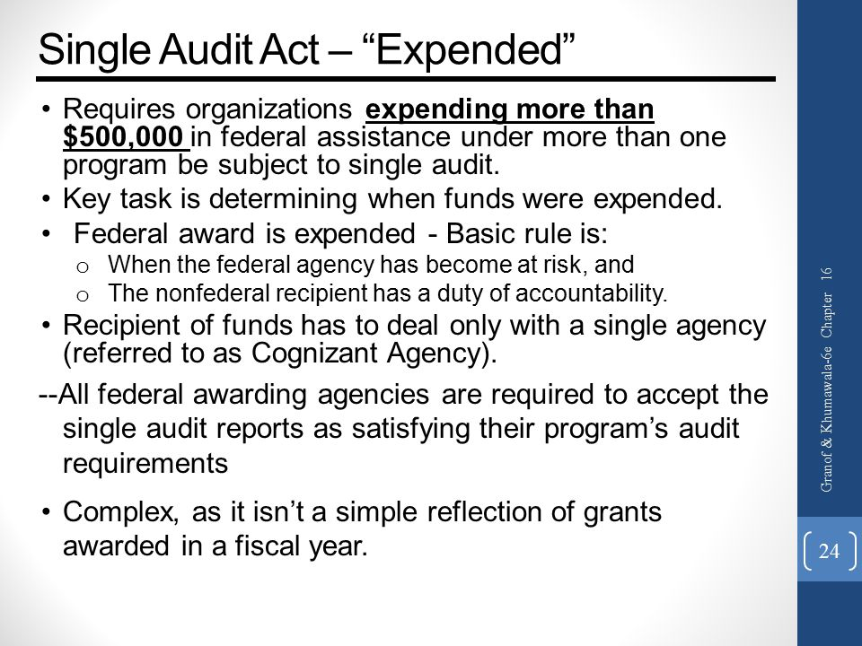 Single Audit Act – Expended