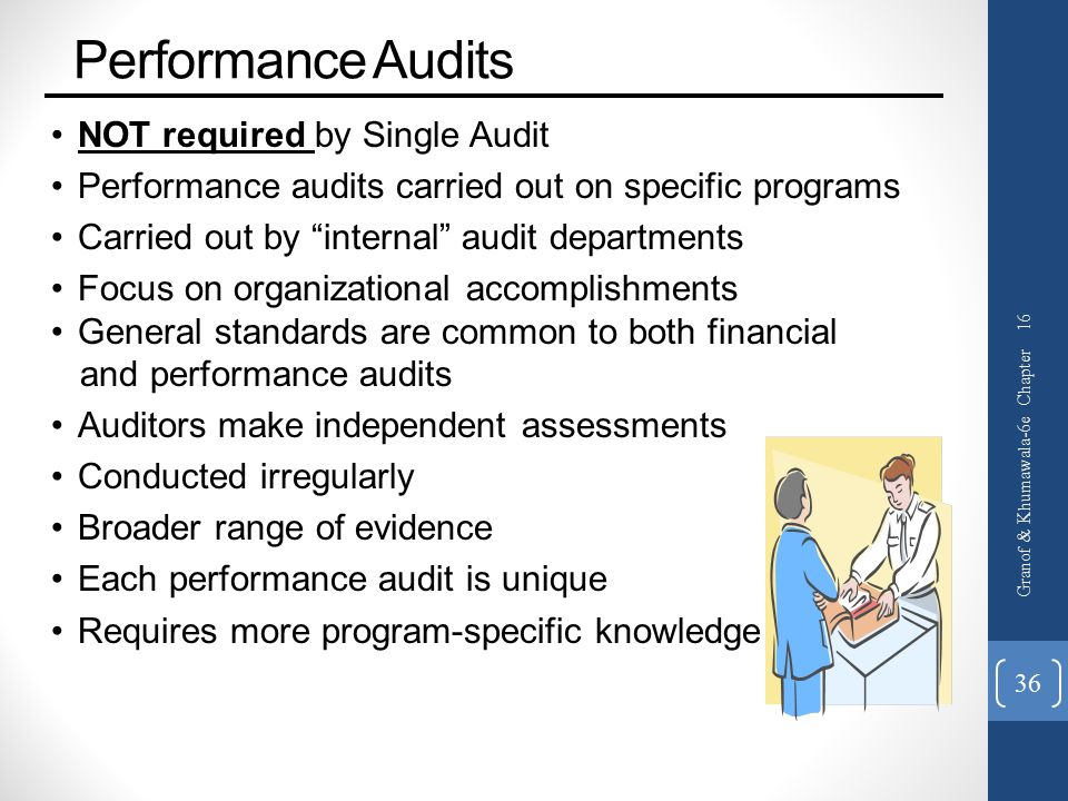 Performance Audits NOT required by Single Audit