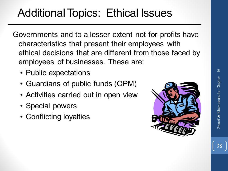 Additional Topics: Ethical Issues