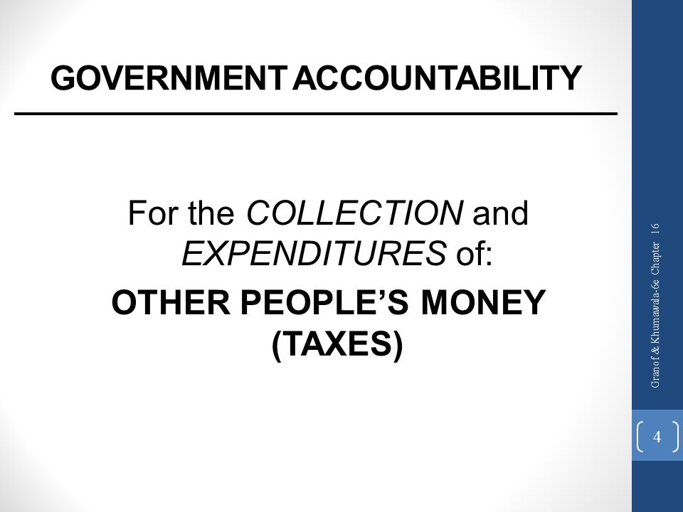 GOVERNMENT ACCOUNTABILITY