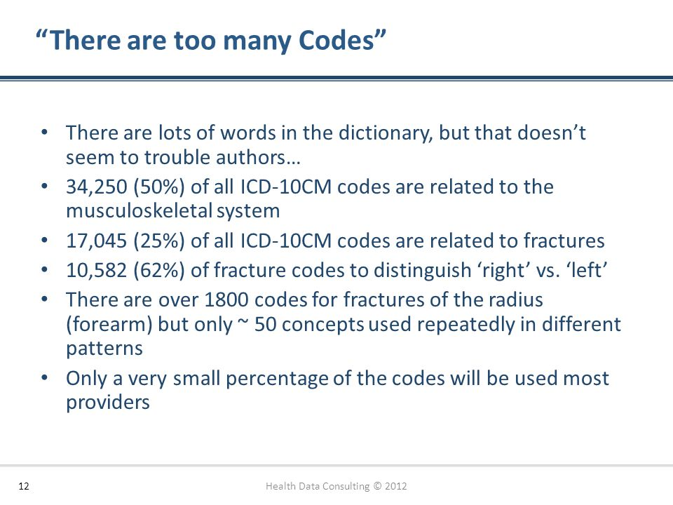 There are too many Codes