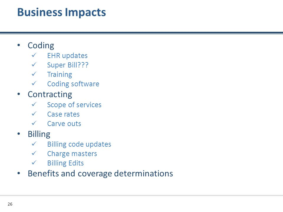 Business Impacts Coding Contracting Billing