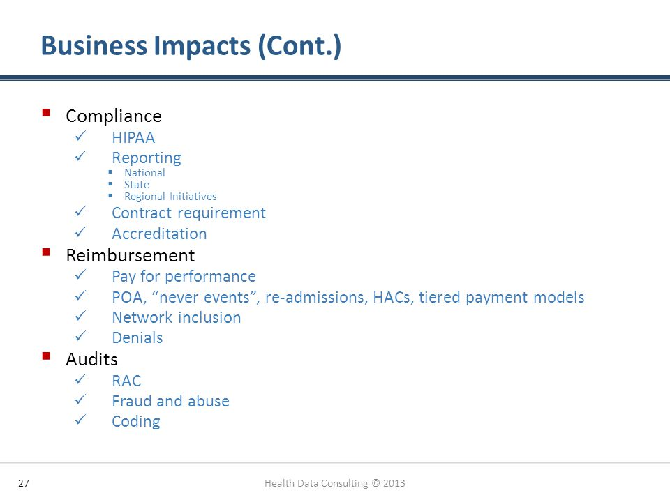 Business Impacts (Cont.)