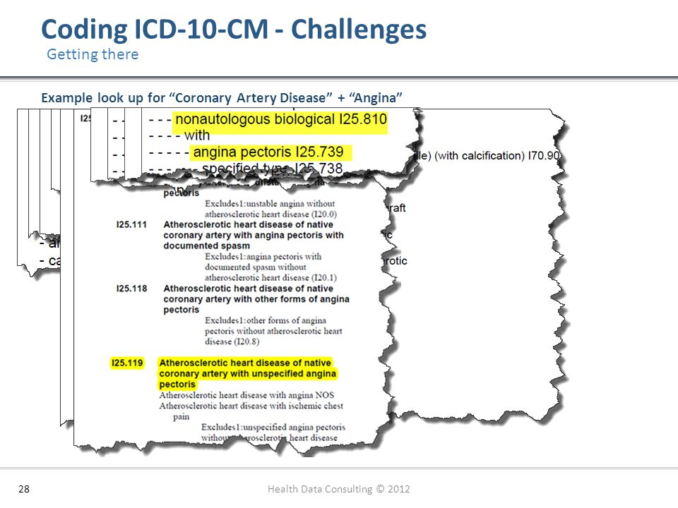 Coding ICD-10-CM - Challenges