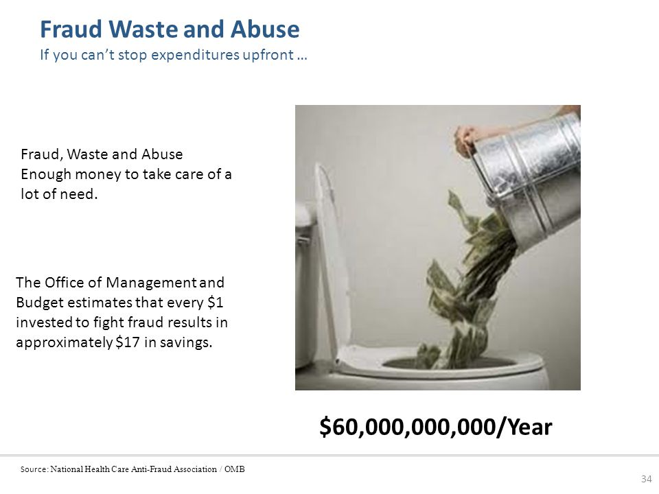 Fraud Waste and Abuse If you can't stop expenditures upfront …