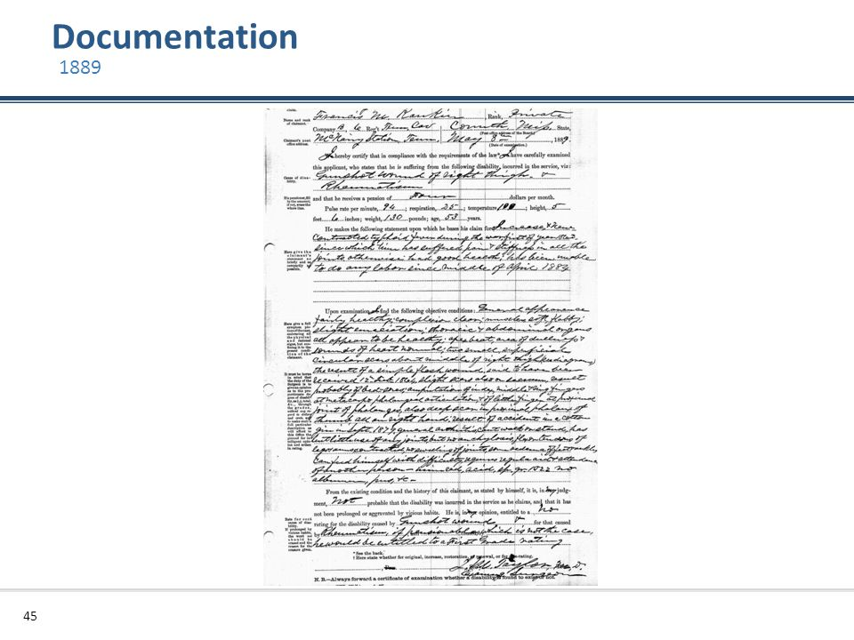 Documentation 1889