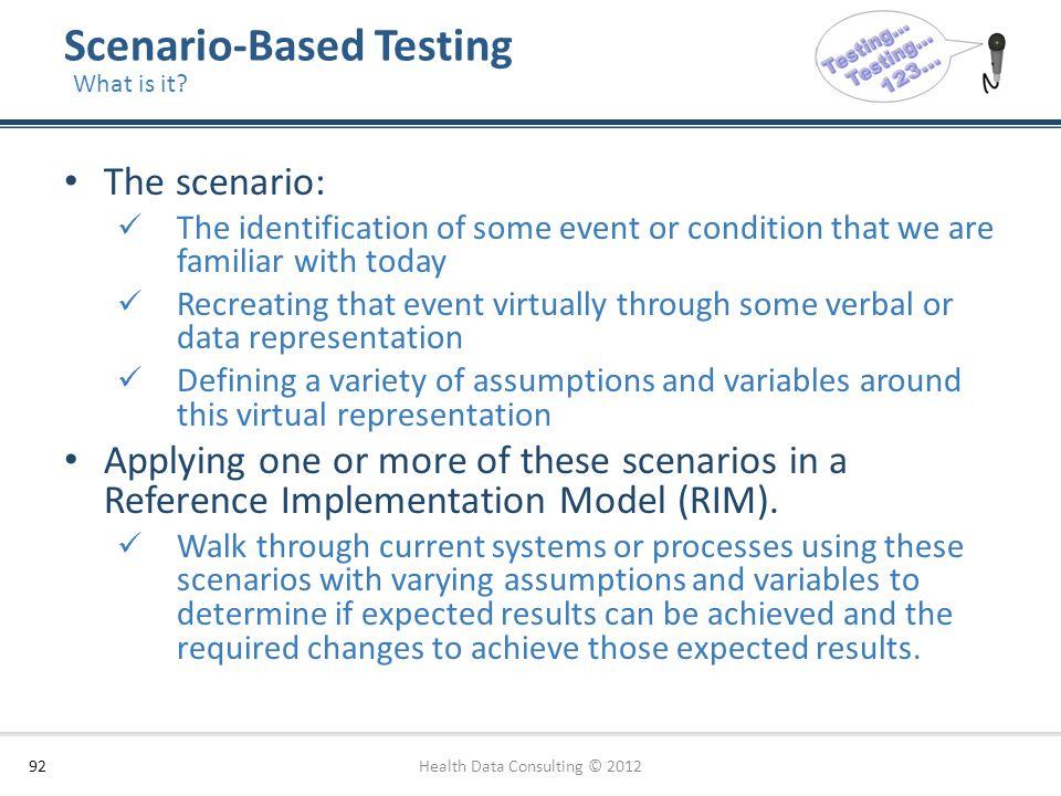 Scenario-Based Testing