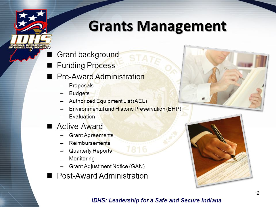 Grants Management Grant background Funding Process