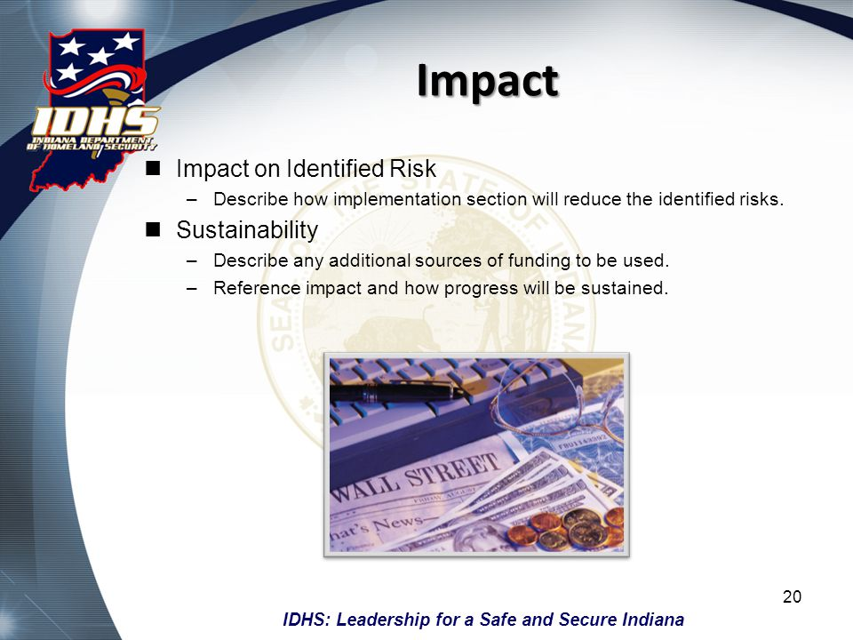 Impact Impact on Identified Risk Sustainability