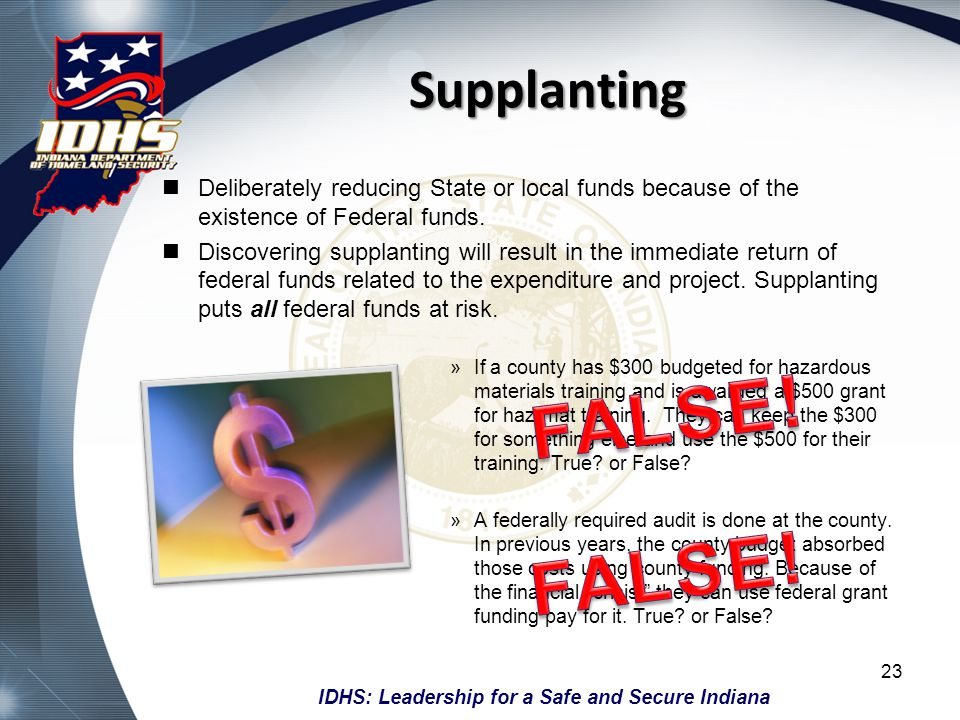 FALSE! FALSE! Supplanting