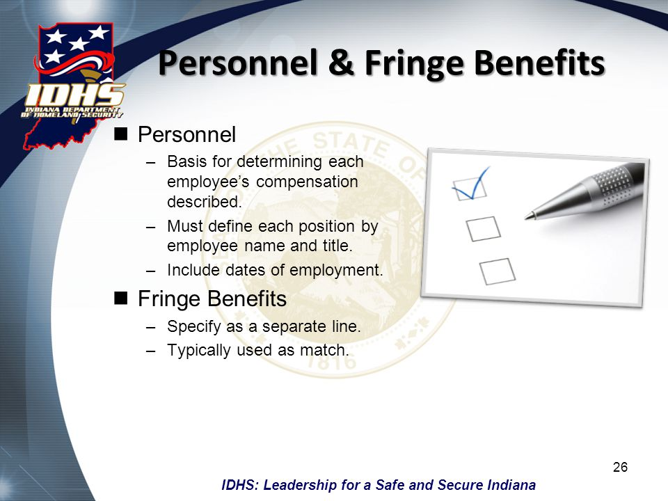 Personnel & Fringe Benefits