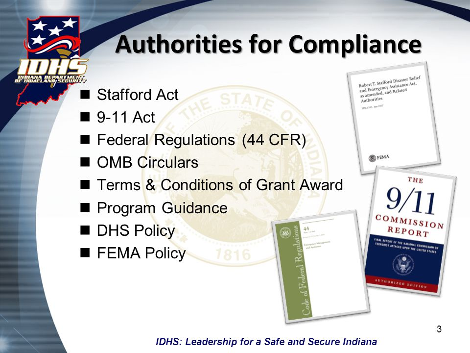 Authorities for Compliance