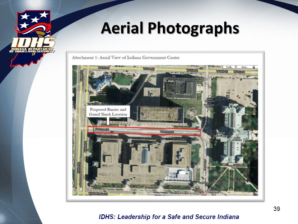 Aerial Photographs Obtain an aerial photo - There are multiple online sources for aerial photos, try Google Maps.
