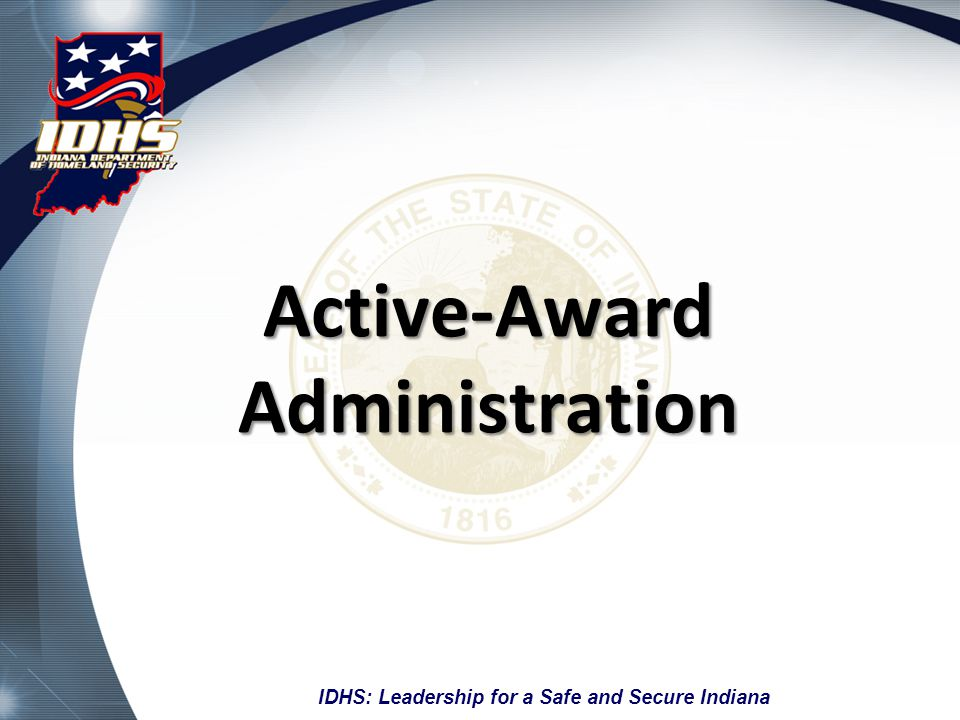 Active-Award Administration