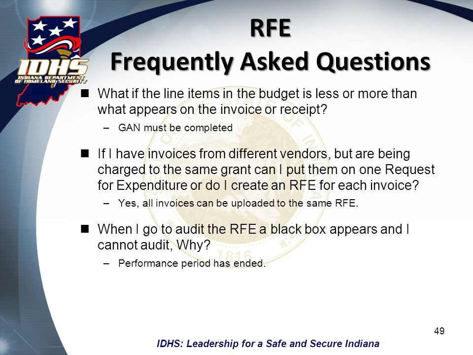 RFE Frequently Asked Questions