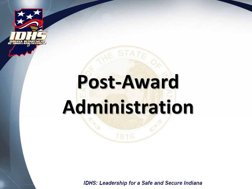 Post-Award Administration