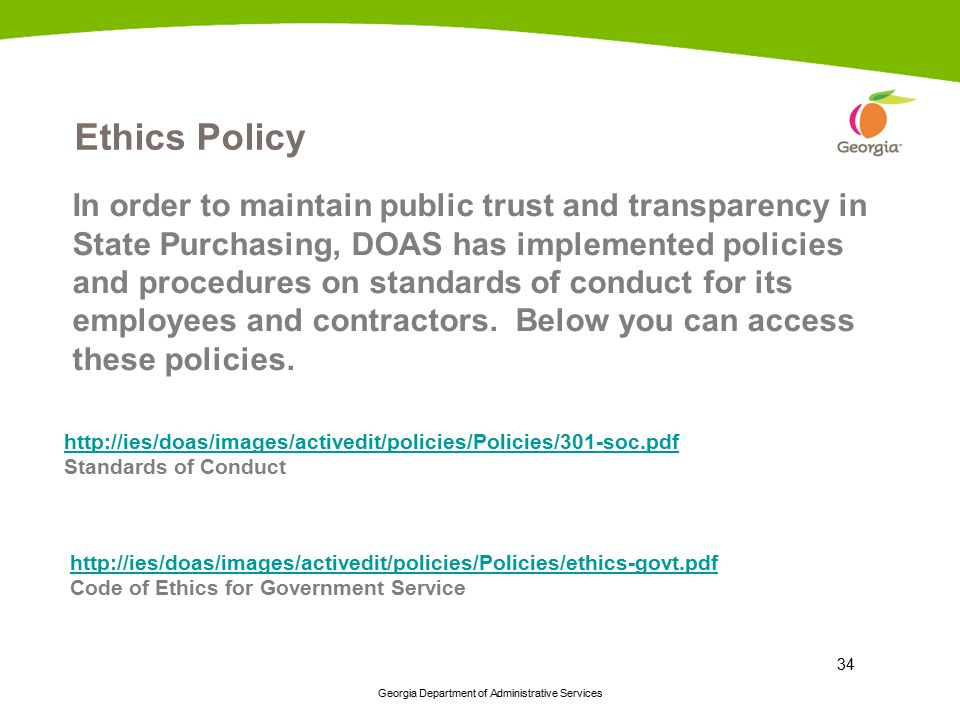Ethics Policy
