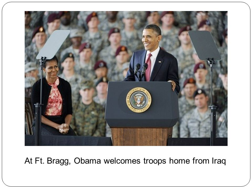 At Ft. Bragg, Obama welcomes troops home from Iraq