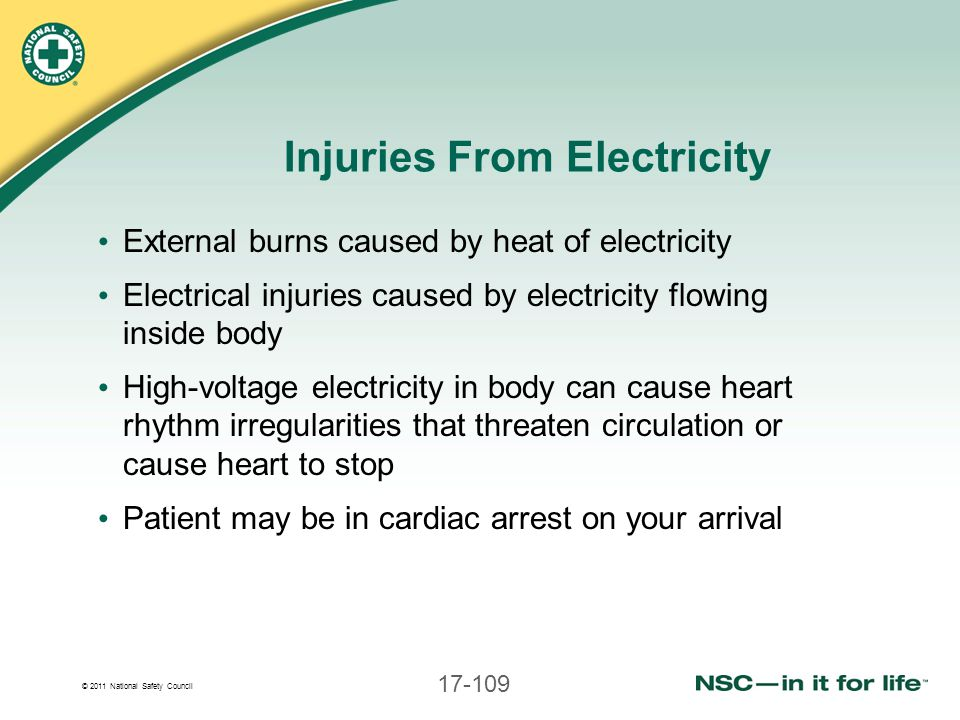 Injuries From Electricity