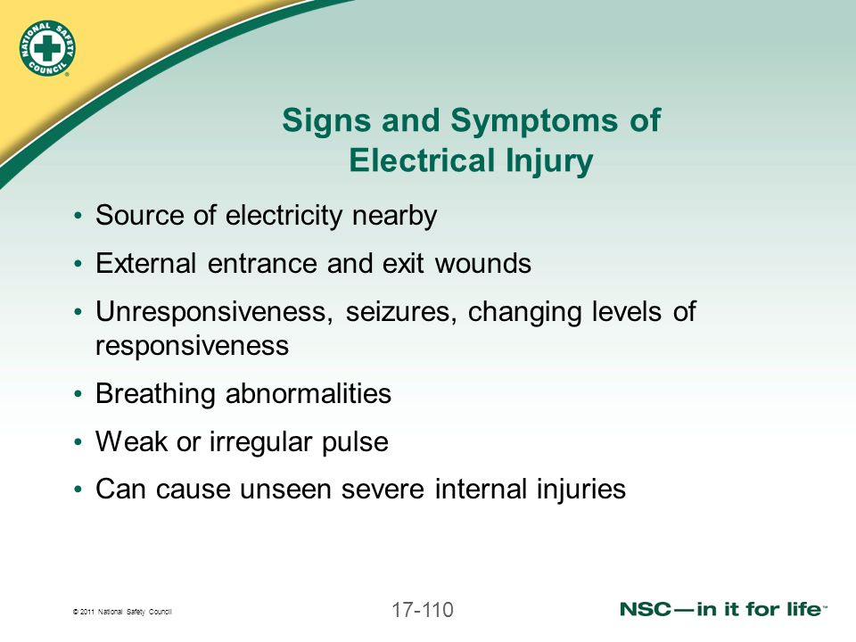 Signs and Symptoms of Electrical Injury