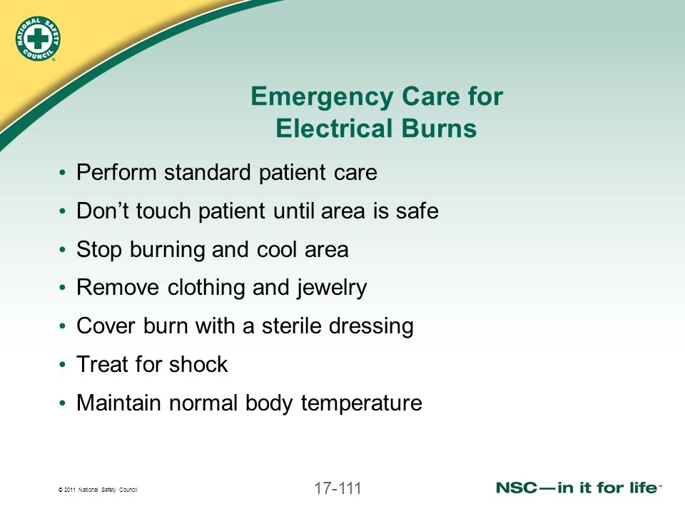 Emergency Care for Electrical Burns