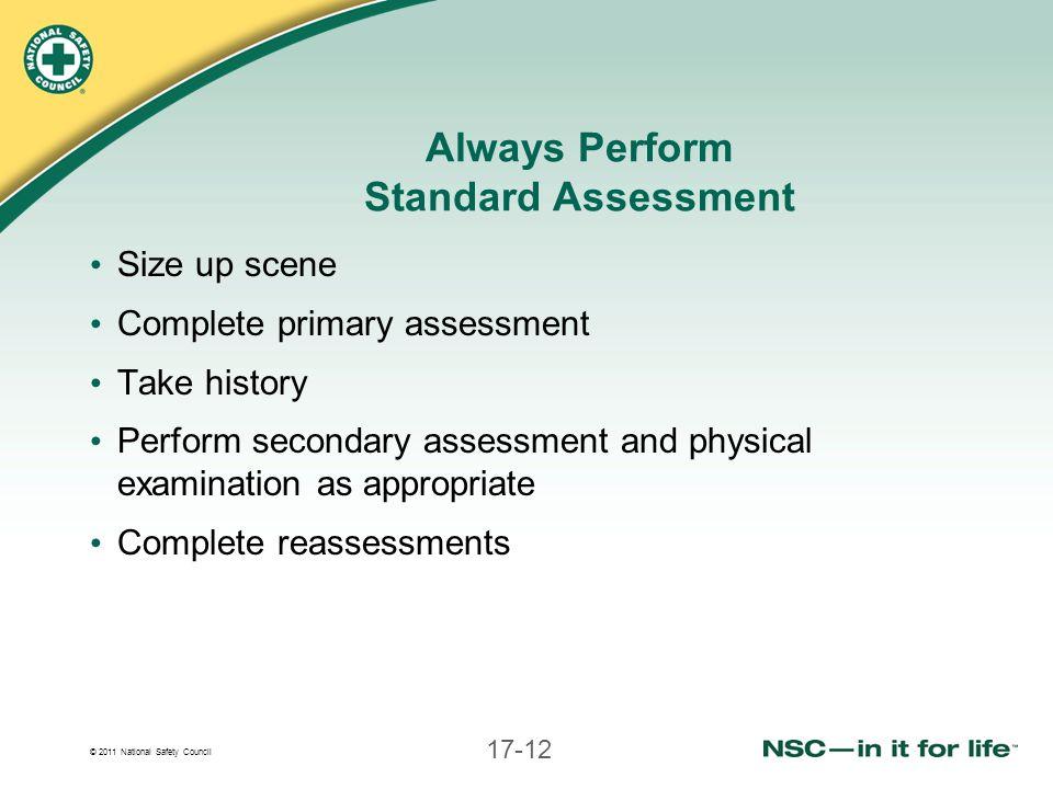 Always Perform Standard Assessment