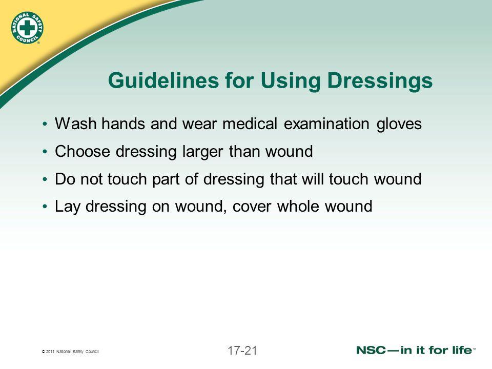 Guidelines for Using Dressings