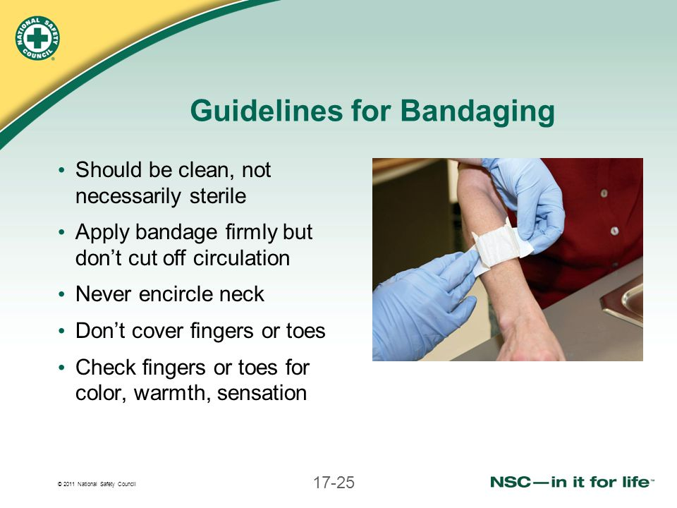Guidelines for Bandaging