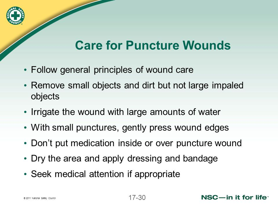 Care for Puncture Wounds