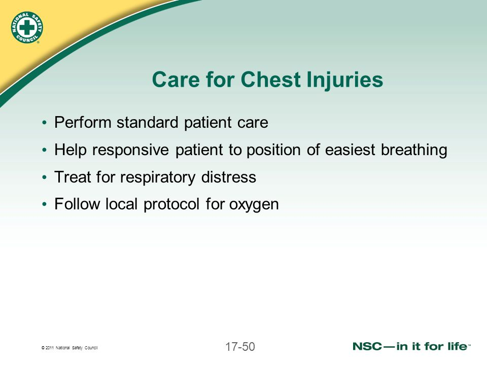 Care for Chest Injuries