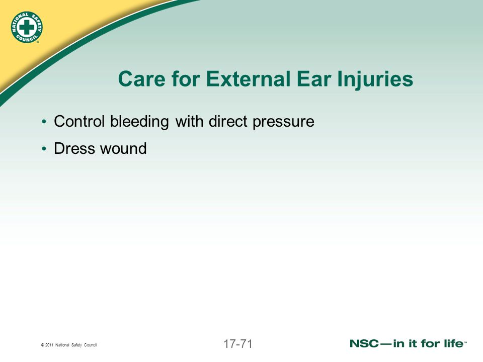 Care for External Ear Injuries