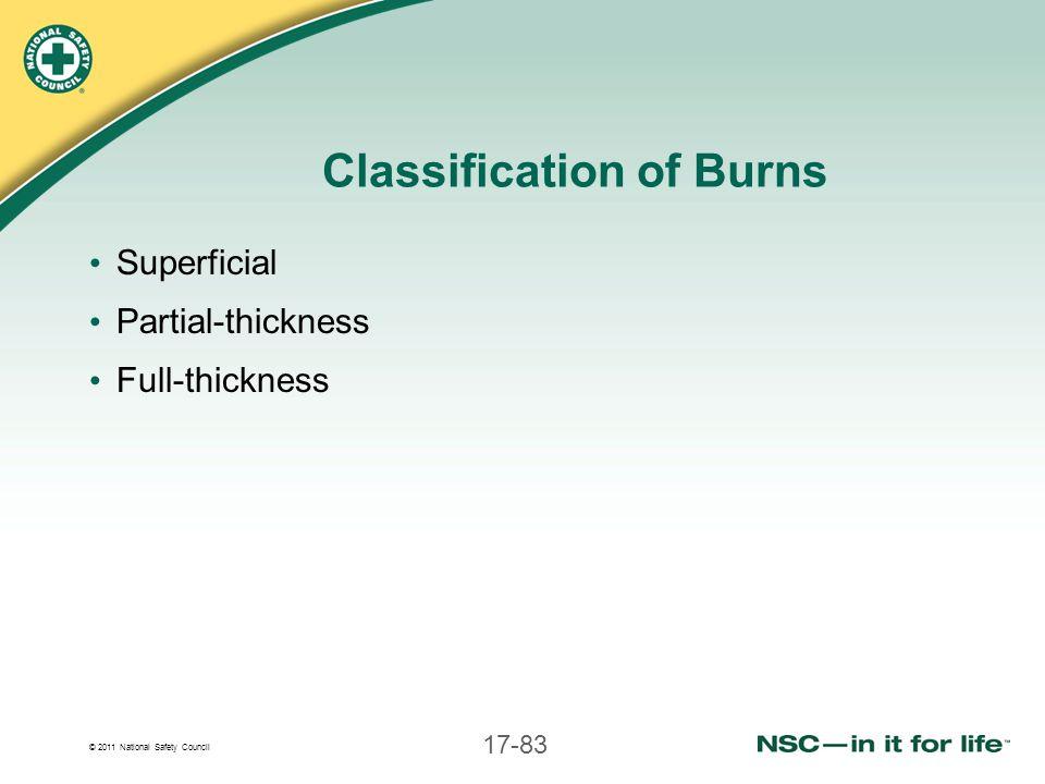 Classification of Burns
