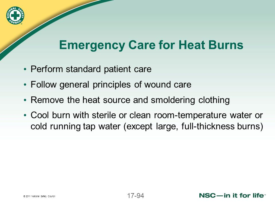 Emergency Care for Heat Burns