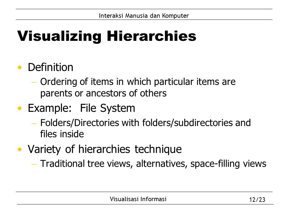 Visualizing Hierarchies