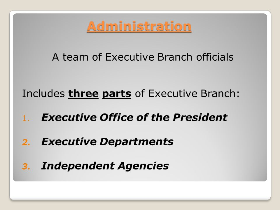 A team of Executive Branch officials