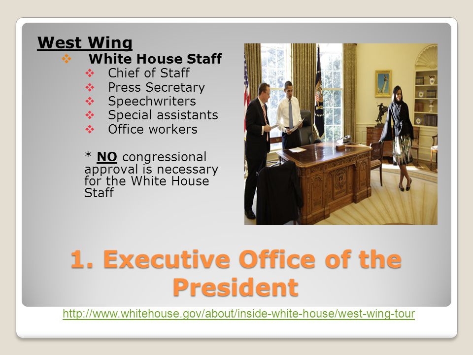1. Executive Office of the President