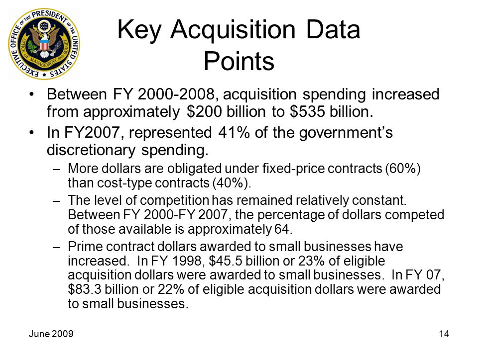 Key Acquisition Data Points