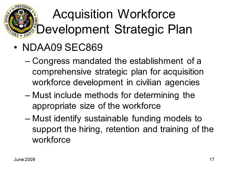 Acquisition Workforce Development Strategic Plan